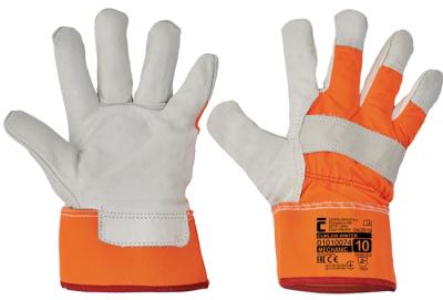 Zimní pracovní rukavice - pracovní rukavice CURLEW WINTER oranžová - 1394