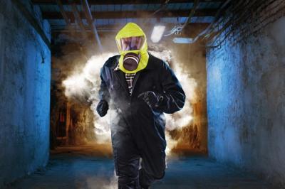 Ochrana dechu - ochranná úniková maska SR 77-3 SMOKE/CHEM stacionální - P401015