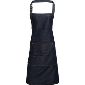 Pracovní gastro oděvy pro kuchaře - pracovní zástěra denim s laclem PREMIER - O203863