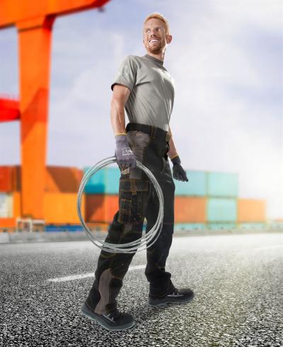 Pracovní montérky - Pracovní kalhoty pas VISION 02 černo-šedé vel. 46 - O204203