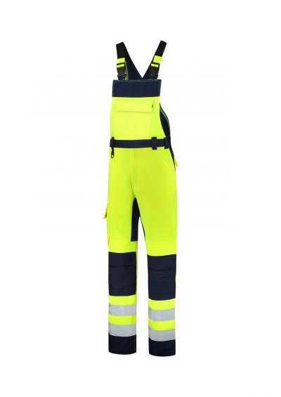 Pracovní kalhoty s laclem - pracovní kalhoty lacl HV BICOLOR - O204321