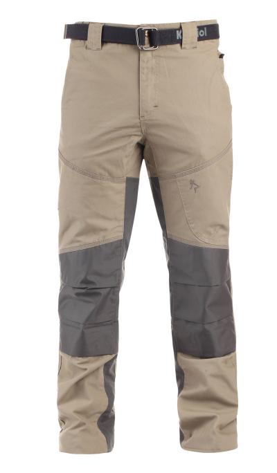 Outdoorové kalhoty - pracovní kalhoty pas KAPRIOL NIGER béžovo/šedé - O202719