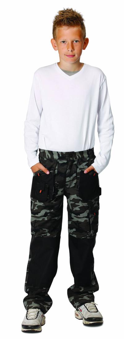 Dětské pracovní oděvy - pracovní kalhoty dětské EMERTON CAMOUFLAGE - O200173
