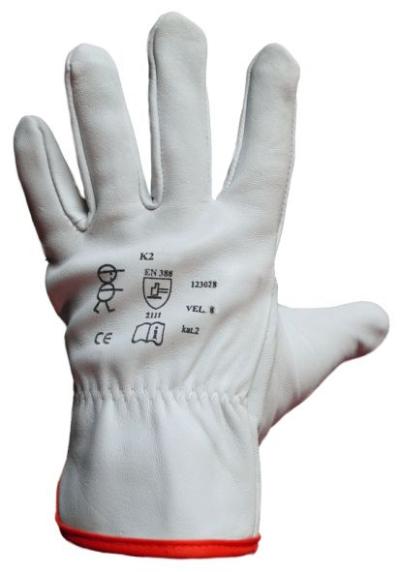 Pracovní rukavice celokožené K2 - 1731