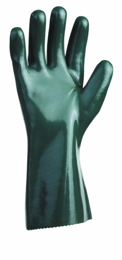Bavlněné pracovní rukavice - Pracovní rukavice UNIVERSAL hladké 27cm zelené, vel.7 - R100268