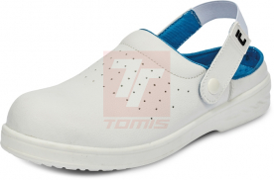 Zdravotní pracovní obuv (bílá) - Pracovní pantofel RAVEN SB SRC - B300185