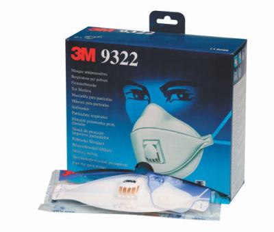 Ochrana dechu třídy FFP2 - Respirátor 3M 9322 FFP2 s ventilkem valve Aura BLK - P401213