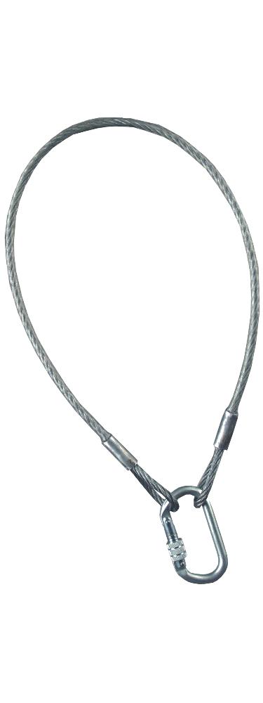 Ocelové kotevní lanko Flum s karab - 1 m -P401345