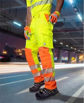 Montérkové kalhoty do pasu - Reflexní kalhoty ARDON®SIGNAL žluté zkrácené  - O204151