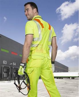 Reflexní pracovní kalhoty - Reflexní kalhoty s laclem ARDON®SIGNAL žluté prodloužené  - O204164
