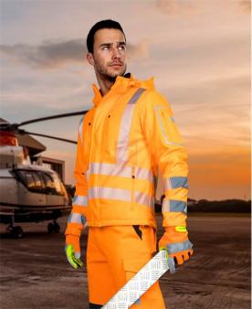 Reflexní pracovní bundy - Reflexní softshellová bunda ARDON®SIGNAL oranžová  - O204168