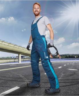 Pracovní montérky - Kalhoty s laclem ARDON®URBAN modré  - O204216