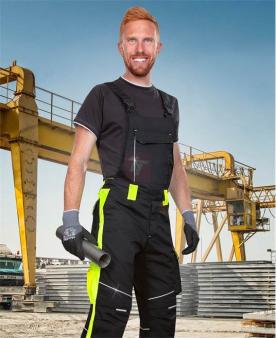Kalhoty s laclem ARDON®NEON černo-žluté prodloužené  - O204209