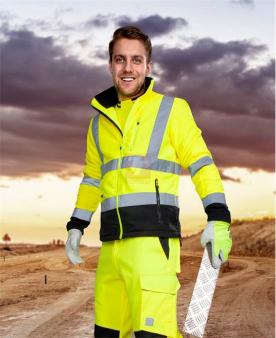 Reflexní pracovní bundy - Reflexní mikina fleece ARDON®SIGNAL žlutá  - O204169