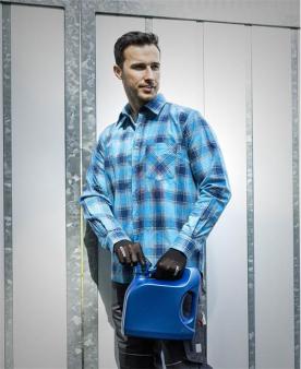 URBAN a URBAN+ - Flanelová košile ARDON®URBAN modrá - O204730