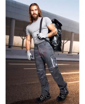 Montérkové kalhoty do pasu - Kalhoty ARDON®SUMMER tmavě šedé zkrácené  - O204135