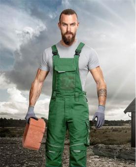 Pracovní kalhoty - Kalhoty s laclem ARDON®URBAN+ zelené  - O204217