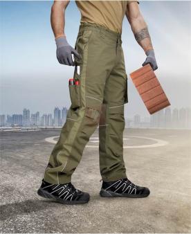 Montérkové kalhoty do pasu - Kalhoty ARDON®URBAN+ khaki  - O204212