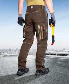 Montérkové kalhoty do pasu - Kalhoty ARDON®URBAN+ hnědé  - O204213