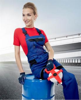 Pracovní kalhoty - Dámské kalhoty s laclem ARDON®COOL TREND modro-černé  - O204407