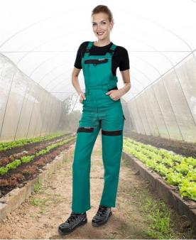 Pracovní kalhoty - Dámské kalhoty s laclem ARDON®COOL TREND zeleno-černé  - O204409