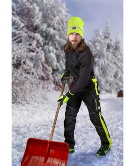 Zateplené zimní pracovní oděvy - Zimní kalhoty s laclem ARDON®NEON černo-žluté  - O204450