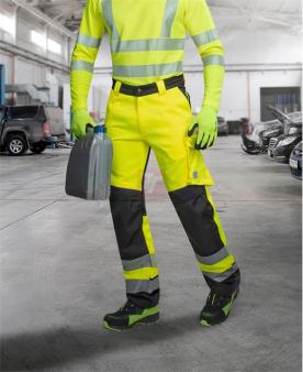Pracovní montérky - Reflexní kalhoty ARDON®SIGNAL žluto-černé zkrácené  - O204685