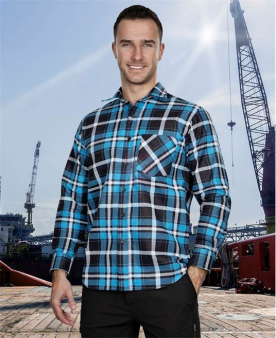 Pracovní košile - Flanelová košile ARDON®JONAH modrá