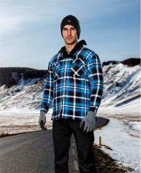 Pracovní košile - Zimní flanelová košile ARDON®JONAH modrá