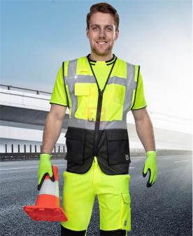 Reflexní pracovní montérky - Síťovaná manažerská vesta ARDON®SIGNAL žlutá  - O204177