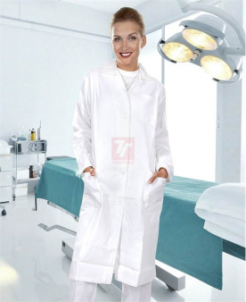 KLASIK - Dámský plášť s dlouhým rukávem ARDON®ELIN bílý  - O203114
