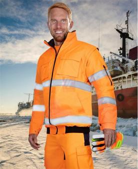 Nepromokavé pracovní oděvy do deště - Reflexní bunda ARDON®HOWARD oranžová  - O204389