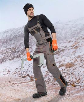 Zateplené zimní pracovní kalhoty - Zimní kalhoty s laclem ARDON®VISION šedé  - O203740