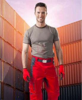 VISION - Kalhoty ARDON®VISION červené zkrácené  - O203380