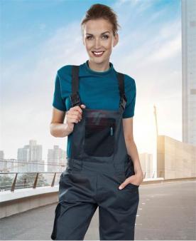 Pracovní kalhoty - Dámské kalhoty s laclem ARDON®4TECH šedé  - O203337