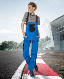4TECH - Dámské kalhoty s laclem ARDON®4TECH modré  - O203336