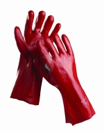 Bavlněné pracovní rukavice - pracovní rukavice REDSTART 35 cm - 1063
