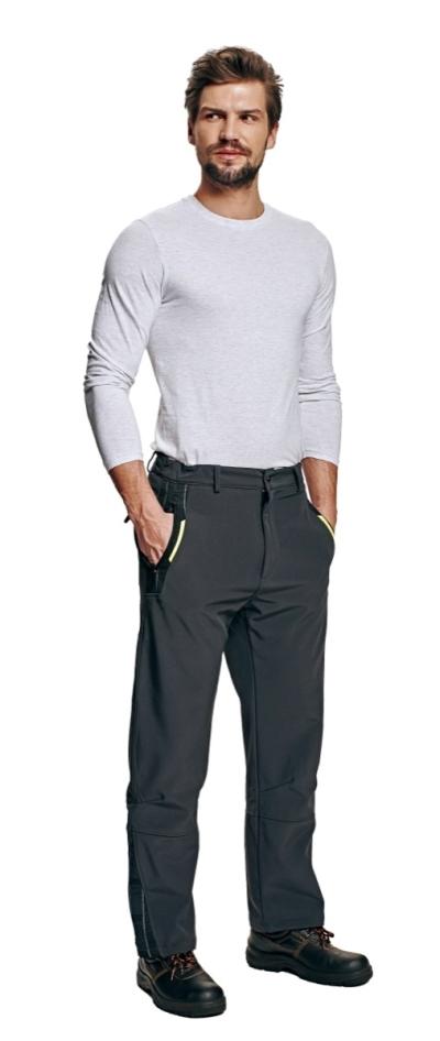 Zateplené zimní pracovní kalhoty - pracovní kalhoty softshell OLZA -  O200287