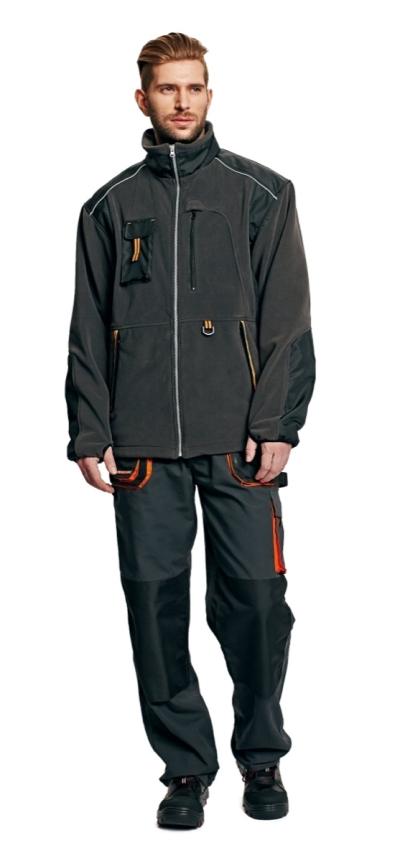 Pracovní mikiny a svetry - pracovní bunda zimní fleecová EMERTON - O200035