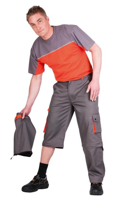 Montérkové kalhoty do pasu - pracovní kalhoty pas 2v1 DESMAN - 2563