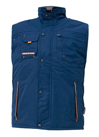 Zateplené zimní pracovní montérky - pracovní vesta zimní EMERTON NAVY - O200327