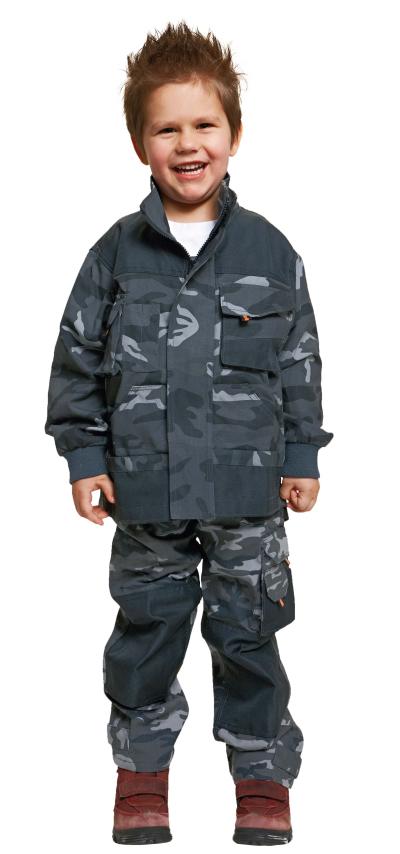 Pracovní oděvy pro děti - pracovní bunda dětská EMERTON CAMOUFLAGE - O200172