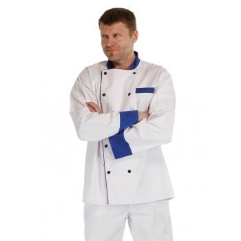 Gastro oděvy | pracovní oděvy nejen pro kuchaře - pracovní kabát kuchařský RONDON BLUE LONG - O200202