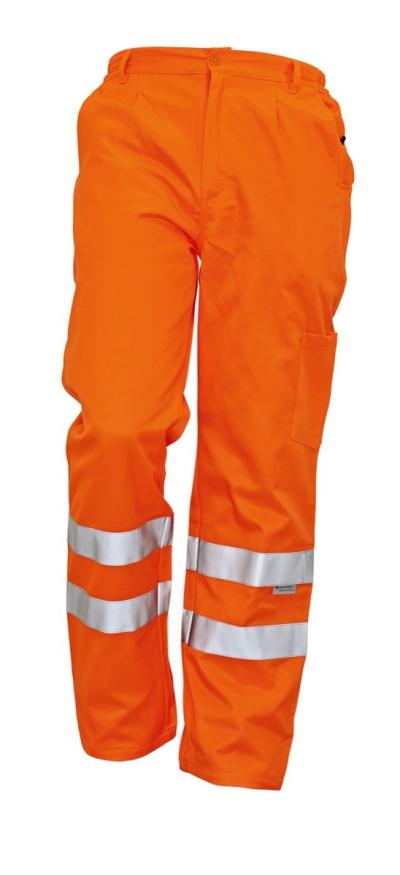 Reflexní pracovní oděvy pro cestáře - pracovní kalhoty KOROS - 2741