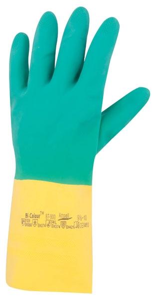 Chemické pracovní rukavice - pracovní rukavice BI-COLOUR A87-900 - 1131