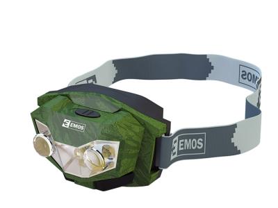Čelovky - Kvalitní čelovky PETZL a EMOS - čelovka EMOS 2+1 LED - P400407