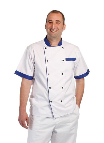 Gastro oděvy | pracovní oděvy nejen pro kuchaře - pracovní kabát kuchařský RONDON BLUE SHORT - O200032