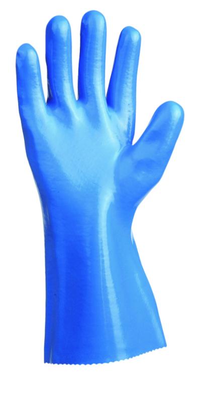 Chemické pracovní rukavice - pracovní rukavice UNIVERSAL hladké 30 cm - 1456