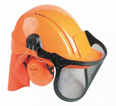 Ochrana hlavy, ochanné přilby - lesnický komplet PELTOR PEL LES  SNR 28 dB - 4211
