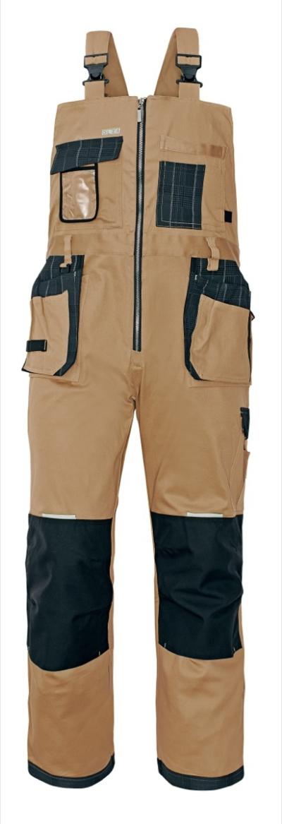Pracovní kalhoty s laclem - pracovní kalhoty lacl OLZA - 2925